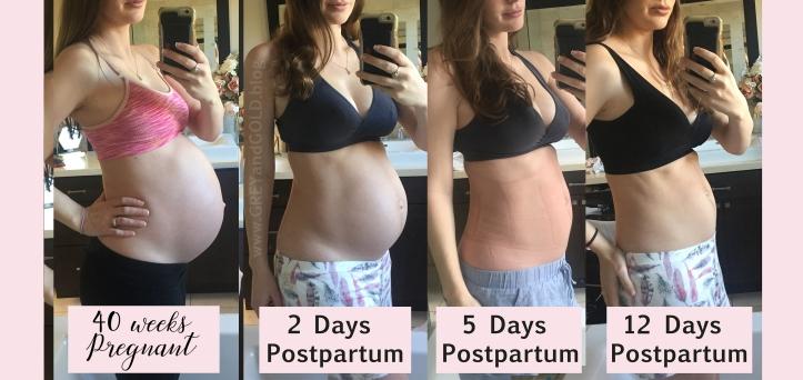 40 weeks to 12 days postpartum bump